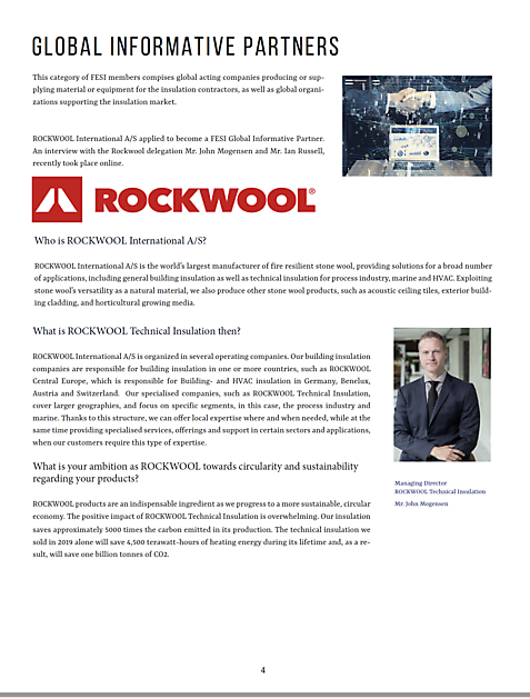 Interview with Rockwool TI - FESI – European Federation of Associations of Insulation Contractors