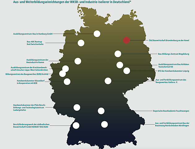 All centres in Germany - FESI – European Federation of Associations of Insulation Contractors